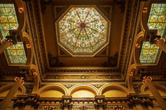 Colon Theater Interior Decoration. Beautiful decorations in the Colon Theater in Buenos Aires, Argentina Stock Photos