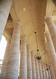 Colonade. Picture is taking in Vatican, Rome, Italy Royalty Free Stock Photo