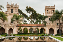 Colonade. Connecting Casa de Balboa and the House of Hospitality Royalty Free Stock Image