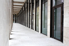 Colonade of modern building. In Frankfurt a.M., Germany Royalty Free Stock Photos