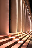 Colonade at night Royalty Free Stock Photography
