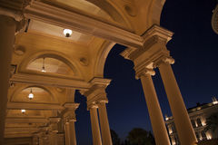 Colonade in the night Royalty Free Stock Photo