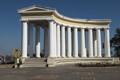 The Colonade of Vorontsov Palace in Odessa. Ukraine royalty free stock images