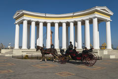 The Colonade of Vorontsov Palace in Odessa. Ukraine Stock Photography