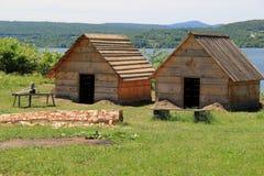 Colonel Anthony Wayne wydawał rozkazy zaczynać budujący lepszy budynek mieszkalny osłaniać mężczyzna pułk, fort Ticonderoga, 2015 Obrazy Stock