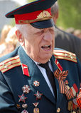 Colonel. Old man in colonel uniform , veteran of Great War Stock Image