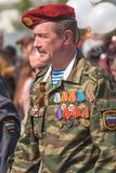 Colonel of police on Victory Day parade Royalty Free Stock Image