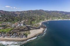 Colonia de Malibu, laguna y antena de la playa de Surfrider fotografía de archivo libre de regalías