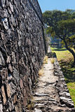 Colonia del Sacramento Stone Wall Uruguay Royalty Free Stock Photos