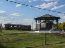 Colonia del Sacramento Train Station. Old train wagons on the train station of Colonia del Sacramento, Uruguay Royalty Free Stock Images