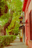 COLONIA DEL SACRAMENTO, URUGUAY - MAY 04, 2016: the city is famous because of its city center and it was named a world Stock Images