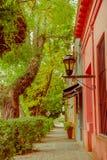 COLONIA DEL SACRAMENTO URUGWAJ, MAJ, - 04, 2016: miasto jest sławny przez swój centrum miasta i ja wymieniał świat Obrazy Stock