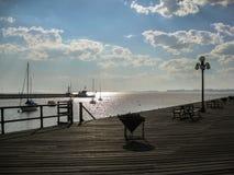Colonia delSacramento Uruguay solnedgång Arkivfoto