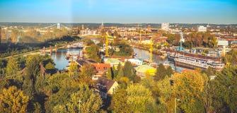 Colonia desde arriba fotos de archivo libres de regalías