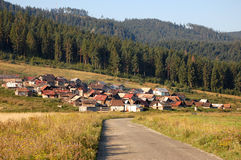 Colonia gitana en Eslovaquia Foto de archivo