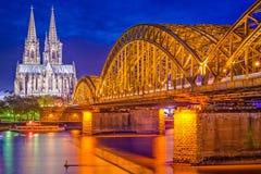 Colonia, orizzonte della Germania Fotografia Stock Libera da Diritti