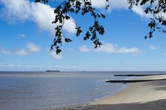 Colonia`s Beach. Uruguay stock photo