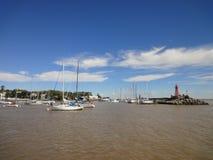 Colonia´s Marina. Photo taken at the Colonia´s marina (non commercial port). Colonia del Sacramento, Uruguay Stock Photography