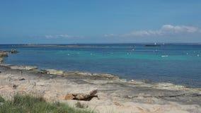 Colonia Sant Jordi, spain Paisagem de surpresa da praia encantador Es Trenc Ganhou a reputa??o da praia das cara?bas filme