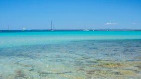 Colonia Sant Jordi, Spanje Verbazend landschap van het charmante strand S Trenc stock afbeeldingen
