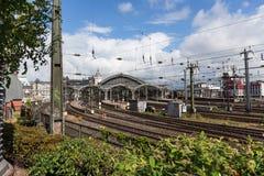 Colonia, stazione ferroviaria della Germania Fotografia Stock Libera da Diritti