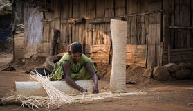 Colonia tribal en las artesanías de la India fotografía de archivo libre de regalías