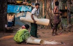 Colonia tribal en las artesanías de la India imagen de archivo
