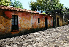 Colonia, Uruguay. Street of an old Portugese colony in Uruguay Royalty Free Stock Images