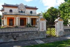Colonial Мексика дома архитектуры Стоковая Фотография