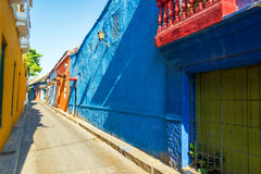 Colonial Alley in Cartagena Royalty Free Stock Image