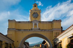 Colonial arch. The Iconic Colonial arch in Antigua, Guatemala Stock Photography