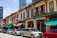 Colonial Architecture Along Arab Street, Singapore Royalty Free Stock Images