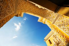 Antigua. Colonial architecture in ancient Antigua Guatemala city, Central America, Guatemala Royalty Free Stock Photos