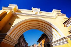 Antigua. Colonial architecture in ancient Antigua Guatemala city, Central America, Guatemala Royalty Free Stock Photography