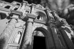 Antigua. Colonial architecture in ancient Antigua Guatemala city, Central America, Guatemala royalty free stock images
