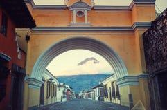 Antigua. Colonial architecture in ancient Antigua Guatemala city, Central America, Guatemala stock photos
