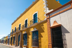 Colonial architecture in Campeche (Mexico) Royalty Free Stock Image