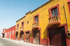 Colonial architecture in Cholula (Mexico) Stock Photos