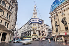 Colonial architecture in city center, Shanghai, China Stock Images