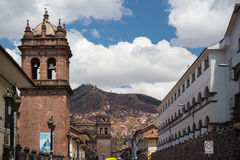 Colonial architecture and cityscape in Cusco, Peru Stock Photos