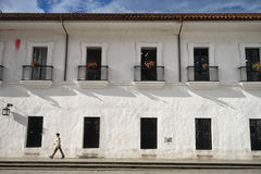 Colonial architecture closeup in Colombia Royalty Free Stock Photos