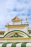 Colonial architecture detail. Low angle view of colonial rooftop architecture, Australia Royalty Free Stock Image