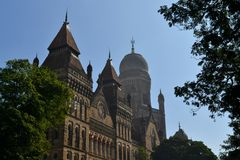 Colonial architecture Elphinstone College, Mumbai Stock Image