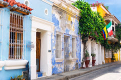 Colonial Architecture and Flags Stock Photography
