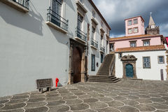 Colonial architecture of Funchal old town, Madeira island, Portugal Stock Image