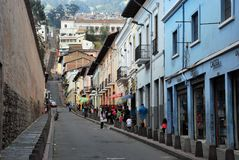 Colonial Architecture in Quito, Ecuador royalty free stock photography