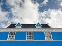Colonial Architecture In Willemstad, Curacao Royalty Free Stock Photos