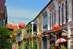 Colonial Architecture in Phuket Old Town, Thailand Royalty Free Stock Photos