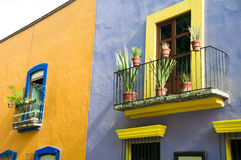 Colonial architecture in Puebla. Mexico Royalty Free Stock Photo