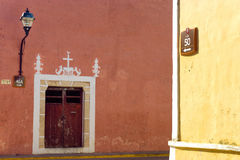 Colonial Architecture in Valladolid Royalty Free Stock Photos